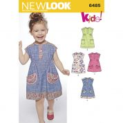 New Look Girls Easy Sewing Pattern 6485 Dresses & Tunic Tops