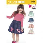 New Look Girls Easy Sewing Pattern 6486 Skirts in 4 Styles