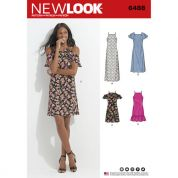 New Look Ladies Sewing Pattern 6488 Dresses with Length & Sleeve Variations