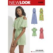 New Look Ladies Sewing Pattern 6489 Jumpsuit, Romper & Dress