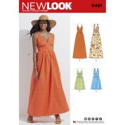 New Look Ladies Sewing Pattern 6491 Dresses with Bodice Variations