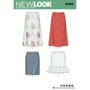 New Look Ladies Sewing Pattern 6492 Skirts with Length Variations