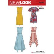 New Look Ladies Sewing Pattern 6495 Jersey Knit Dresses
