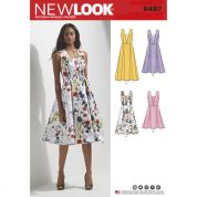 New Look Ladies Sewing Pattern 6497 Dress with Bodice & Length Variations