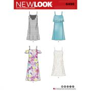 New Look Ladies Sewing Pattern 6499 Spaghetti Strap Dresses