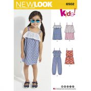 New Look Girls Sewing Pattern 6502 Jumpsuit, Romper & Dresses