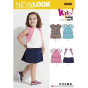 New Look Girls Sewing Pattern 6503 Jersey Knit Dresses