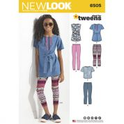 New Look Girls Sewing Pattern 6505 Tops & Leggings