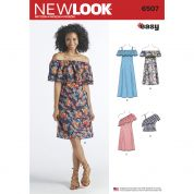 New Look Ladies Easy Sewing Pattern 6507 Tops & Dresses