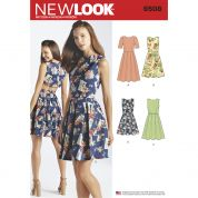 New Look Ladies Sewing Pattern 6508 Dresses with Open or Closed Back