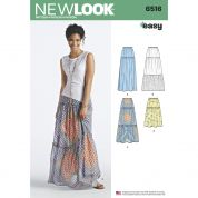 New Look Ladies Easy Sewing Pattern 6516 Tiered Skirts