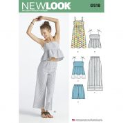 New Look Ladies Sewing Pattern 6518 Dress, Tops, Pants & Shorts