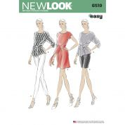 New Look Ladies Easy Sewing Pattern 6519 Dress, Tops, Pants & Shorts