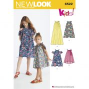 New Look Girls Easy Sewing Pattern 6522 Dresses & Top