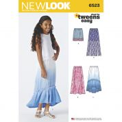 New Look Girls Easy Sewing Pattern 6523 Summer Skirts