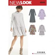 New Look Ladies Sewing Pattern 6525 Jersey Knit Dresses