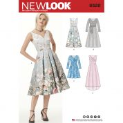New Look Ladies Sewing Pattern 6526 Dress With Bodice Variations