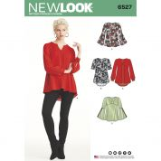 New Look Ladies Sewing Pattern 6527 Tunic Tops in Two Lengths