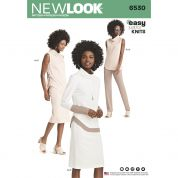 New Look Ladies Easy Sewing Pattern 6530 Jersey Knit trousers, Skirts & Tunic Tops