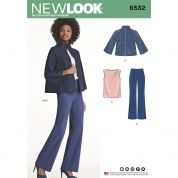 New Look Ladies Sewing Pattern 6532 Trousers, Top & Jacket