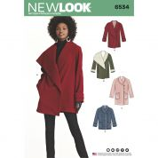 New Look Ladies Sewing Pattern 6534 Coats in 4 Styles