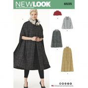 New Look Ladies Sewing Pattern 6535 Capes in Four Lengths