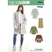 New Look Ladies Easy Sewing Pattern 6536 Coats in Two Lengths