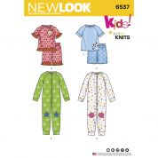 New Look Kids Easy Sewing Pattern 6537 Cozywear