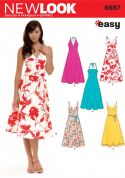New Look Ladies Easy Sewing Pattern 6557 Summer Dresses