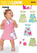 New Look Baby & Toddler Easy Sewing Pattern 6576 Dresses & Headbands