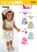 New Look Childrens Easy Sewing Pattern 6578 Dresses & Headbands