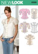 New Look Ladies Sewing Pattern 6599 Blouse Tops with Frill Details