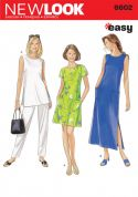 New Look Ladies Easy Sewing Pattern 6602 Tunic Tops, Dresses & Pants