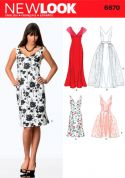 New Look Ladies Sewing Pattern 6670 Dresses & Detachable Overskirt