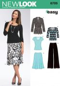 New Look Ladies Easy Sewing Pattern 6735 Jackets, Tops, Skirts & Trouser Pants