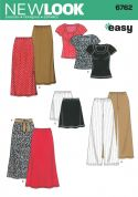 New Look Ladies Easy Sewing Pattern 6762 Tops, Skirts & Trouser Pants