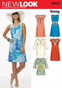 New Look Ladies Easy Sewing Pattern 6803 Tunic Tops, Dresses & Belt