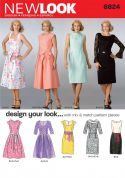 New Look Ladies Sewing Pattern 6824 Smart Fitted Dresses