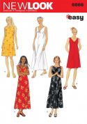 New Look Ladies Easy Sewing Pattern 6866 Summer Dresses
