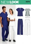 New Look Ladies & Men's Easy Sewing Pattern 6876 Uniforms