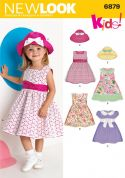 New Look Childrens Easy Sewing Pattern 6879 Summer Dresses & Hats