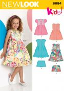 New Look Childrens Easy Sewing Pattern 6884 Summer Dresses & Shorts