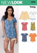 New Look Ladies Easy Sewing Pattern 6891 Summer Tops & Blouses