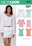 New Look Ladies Easy Sewing Pattern 6892 Summer Tops & Blouses