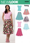 New Look Ladies Easy Sewing Pattern 6899 Tops & Full Skirts