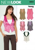 New Look Ladies Easy Sewing Pattern 6914 Waistcoats
