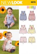 New Look Baby & Toddler Easy Sewing Pattern 6970 Rompers, Dresses & Panties