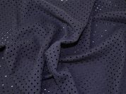 Italian Lazer Cut Wool Coating Dress Fabric  Navy Blue