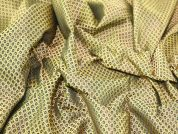 Metallic Woven Brocade Dress Fabric  Black & Gold