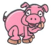 Craft Factory Iron or Sew On Fabric Motif Applique Little Pig